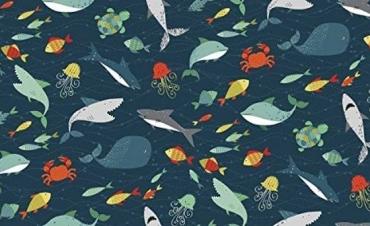 1674 poisson, Fisch, Fishes Fat Quarter -